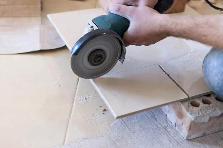 Tile and Concrete Cutting- Angle Grinder